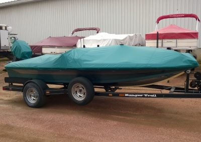 Teal Boat Cover